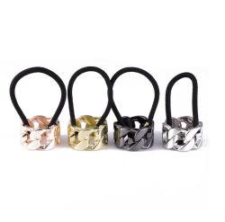 Form-Schmucksache-Haar-Zubehör-Torsion-MetallHorse-Taillegierungs-Haar-Ring