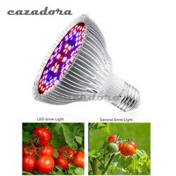 Grandir à LED de lumière à spectre complet E27 18W 28W 30W 50W 80W pour l'usine de la culture hydroponique lumière AC85-265V 110V 220V croître Lampe à LED