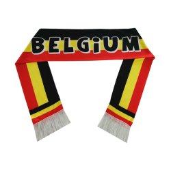 주문 인쇄 주문 크기 디자인 100%년 폴리에스테 벨기에 축구 스카프
