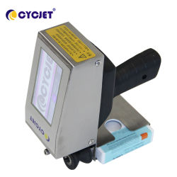 Cycjet Alt360PRO High-Accuracy pequena mão Carimbo Máquina de codificação inkjet