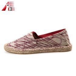 أسلوب كلاسيكيّة [هندمد] قماش عادة [شو فكتوري] أحذية لأنّ رجل ونساء نمو جديدة [كسول شو] [أونيسإكس]