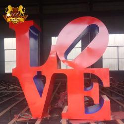 주문 조각품 큰 옥외 금속은 로버트 인디애나 알파벳순 사랑 조각품을 만든다