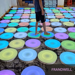 Musica che cambia colore telecomando LED rotondo Light Box Dance LED da pavimento