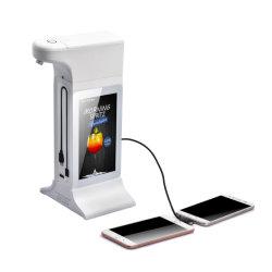 Nouveau design Hand Sanitizer distributeur automatique de support de table de l'écran LCD de la publicité Ad Digital Signage Affichage avec distributeur automatique de la main