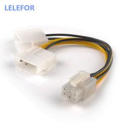 Кабель питания SATA PCI-E 6-контактный гнездовой разъем Molex на 4контакт X2 разветвитель питания PCI Express удлинительные кабели 15см