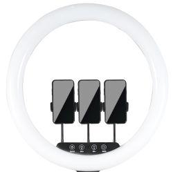 جديد حل ضوء 18 بوصة [لد] [ديمّبل] خفيفة حل [لد] فنّ تصوير فوتوغرافيّ [3200ك/5500ك] [60و] [رينغليغت] مصباح لأنّ بنية