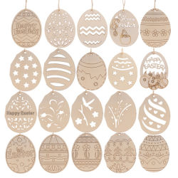 Ovos de madeira Flor de coelhos formas de frango ornamentos inacabada artesanato para a Páscoa decorações bricolage
