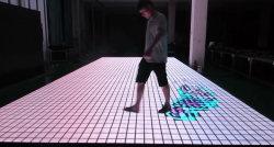 レーダーの会話形システム贅沢なLEDのビデオダンスは対話型のフロア・ディスプレイをタイルを張る