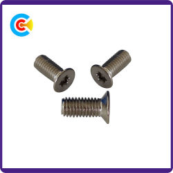 Acero al carbono/4.8/8.8/10.9 m3/Cinquefoil galvanizado/Plum Blossom/tornillo de cabeza avellanada para electrónica/Maquinaria/Industria fijaciones