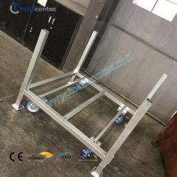 Scaffalatura/rack per pallet in metallo con pneumatici in acciaio impilabili mobili per magazzino Sistema