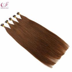 Pré collé U V je pointe plate Hair Extension 1g Stick Astuce Cold Fusion cuticule vierge 100 % de cheveux Remy Cheveux humains de la kératine
