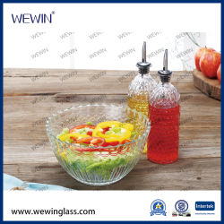 Coffre-fort de bols de cuisine faite de la Chine de gros de la Salade de bols en verre