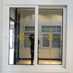 Portelli poco costosi di effetto di uragano di fabbricazione UPVC di Foshan di prezzi e finestra di scivolamento lustrata doppio vetro del PVC della plastica di Windows Guangzhou