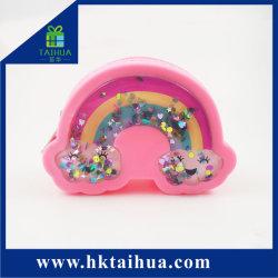 Горячая продажа Cute силиконового герметика Rainbow мини-кошелек мини-Bag медали кошелек силиконового герметика деньги изменить кошелек