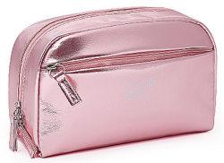 حقيبة ماكياج معدنية حقيبة سفر لامعة كيس تجميلي