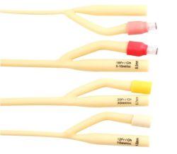Medical estéreis descartáveis de PVC de urina Nelaton 100% revestido de silicone Latex cateter de Foley com balão