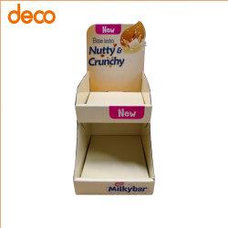 Promoción de la tienda de dos capas cartón Counter-Top Milky Bar Expositor