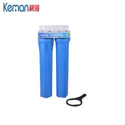 Двойной 20-дюймовый тонкий корпус синего цвета трубопровода фильтрации фильтр для воды