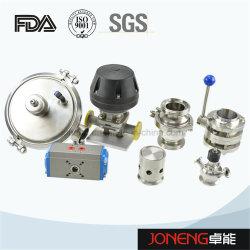 ステンレス鋼の空気の食品等級の衛生球弁、ダイヤフラム弁、小切手弁、蝶弁(JN-1006)