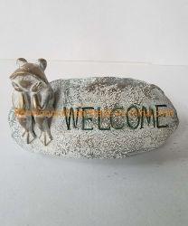 動物の彫刻の樹脂は装飾を豪華な家のデスクトップの装飾のギフトを制作する 待機中にフロッグ