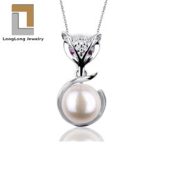 925 Sterling Silver Freshwater White Pearl المتدلية مجوهرات دقيقة للنساء