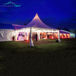 De 1000 personas, salón de boda tienda de campaña del Partido de la pared de disco con ABS y el alto pico