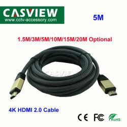 5m 4K HDMI HDMI a HDMI 2.0 3D de 4K para HDTV Cable PS3 portátil LCD Proyector Switcer divisor de cable de ordenador