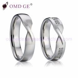 Bisutería de plata anillos de dedo para el acoplamiento