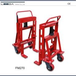 2700 kg zwaar uitgevoerde hydraulische meubelmam en apparatuur met hijswerkzaamheden Hoogte 305 mm en PU-wiel FM270-2