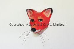 Bright Red Fox mur Macheanimal Appartement Décoration de polyresin masque personnalisé de l'artisanat