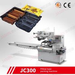 La puce avec le bac d'emballage automatique de débit de l'enrubanneuse de la machine