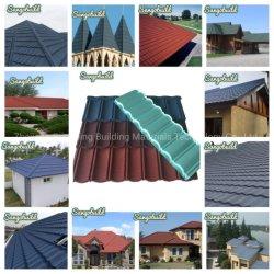 Bouwmaterialen Fabrikant Galvaniseerd staal Zink gecoat dakplaat steen Metalen daktegel met coating voor Villa House