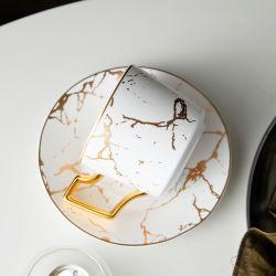 コーヒーカップテーブルウェアホーム陶磁器の白い茶カップ・アンド・ソーサー