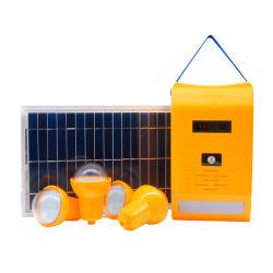 FM 라디오가 있는 휴대용 태양열 조명 키트