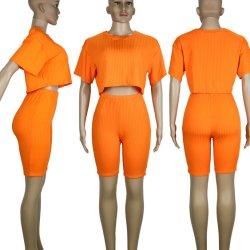 Reservar Jinjiang Superstarer Vestuário de Verão mulheres 2 pedaço curto-defina o vestuário com Camisa Superior de Cultura