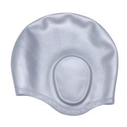 로고 프린팅 재사용 가능 실리콘 수영 모자(여성/여성용
