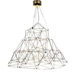 2021 La decoración del hogar de lujo nórdico moderno comedor colgantes de metal de la lámpara colgante
