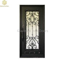 Металлические двери из алюминия один высокой безопасности твердых бытовых стали вход