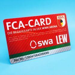 De veranderlijke Geschikt om gedrukt te worden Passieve pvc RFID UHFIdentiteitskaart van Gegevens