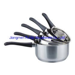 ふたのない台所製品2PCSのステンレス鋼の鍋