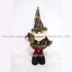 Мода Рождество кукол снежную бабу Санта Клауса игрушки рождественские украшения для дома складная Натале статуэтки