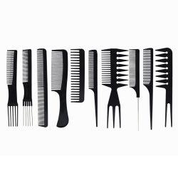 Comercio al por mayor de 10 piezas de plástico de uso doméstico de Salón de belleza y peluquería Peluquería juegos de peinar