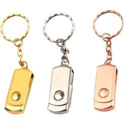 محرك أقراص USB محمول معدني صغير سعة 8 جيجابايت و64 جيجابايت و64 جيجابايت 128 جيجابايت محرك أقراص Pen 4 8 16 32 64 128 جيجا بايت Memory Stick Drive U Disk Waterproof