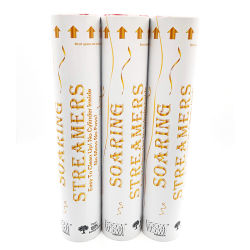 Boomwow 6m de comprimento de retardantes de chama branca deitar mão a disparada dos galhardetes para festas de casamento