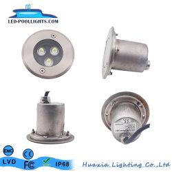 LED de aço inoxidável 304 enterrados no encaixe da luz da lâmpada Inground