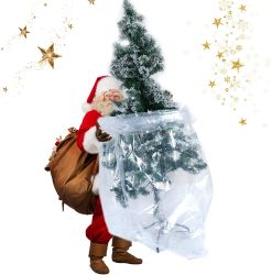 Kerstboom afvalzak plastic Patio meubels grote transparant Opbergtas