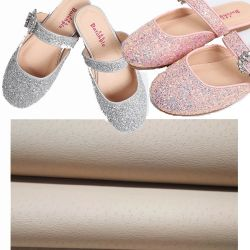 Hot Sale 0,6mm Pig Skin Texture Microfiber Leather for Kid's Schoenvoering