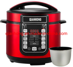 5L, 6L CB/CE/EMC Aparato de Cocina en casa multifuncionales de acero inoxidable de presión eléctrica Arrocera, olla a presión, Arrocera
