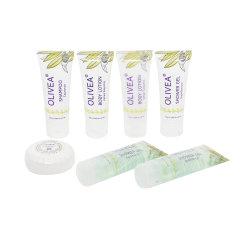 La stanza da bagno cosmetica della bottiglia dell'hotel fornisce i prodotti riciclabili delle amenità del Toothbrush dell'amenità dell'hotel