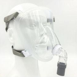 قناع سيليكون سائل LSR الطبي قناع الوجه الكامل CPAP مع ترس أمامي